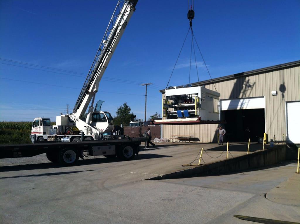 crane rigging corrugated machinery