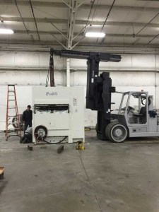 Hampton Industrial working at Elkhart container moving Corrugated Machinery
